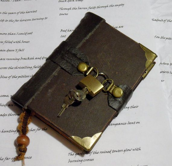 brown+leather+bound+hand+stitched+journal+by+johnnythescavenger,+£20.00