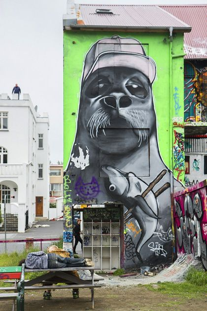 Best Graffiti Street Art Images On Pinterest Street Art - People cant decide if theyre ok with this street artists ironic messages