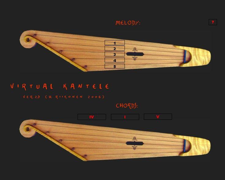 MUSIIKIN ONLINE-MATERIAALEJA: 64. Virtual kantele (by Hannu Riikonen, TY/OKL)