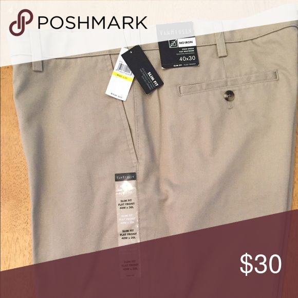 Mens Van Heusen slim fit Dress Pants 40/30 Mens Van Heusen slim fit Dress Pants 40/30. 🎉‼️Get a free item with purchase. Check out my Free item listings and let me know what you'd like to pair this with and I'll create a new listing for you with your free item! Happy Poshing! ❤️👠🙏🏻☮️ Van Heusen Pants Dress