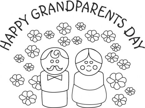 happy grandparents day free coloring sheet