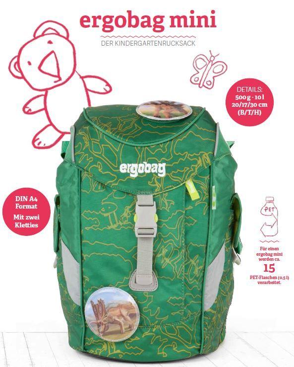 ergobag mini Rucksack für den Kindergarten