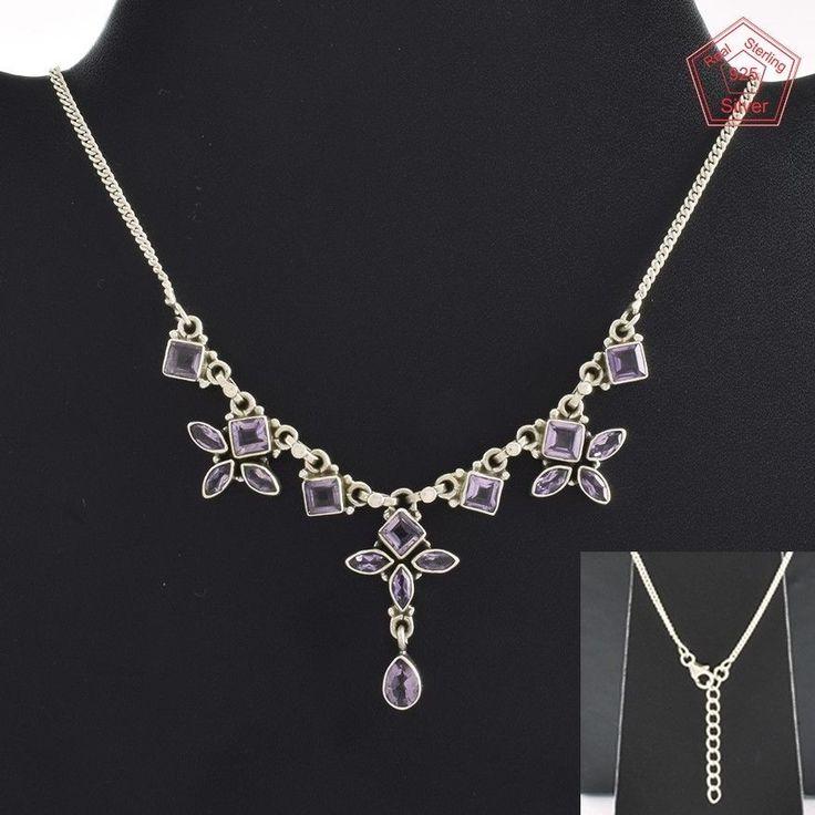 Amethyst Stone Fancy Design 925 Sterling Silver Necklace NK2956…