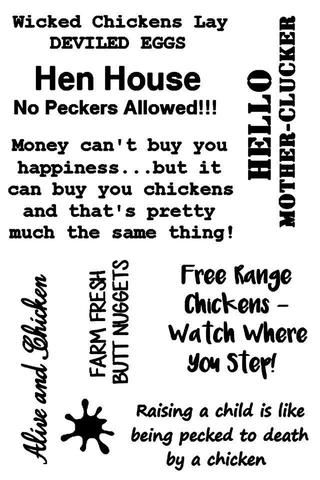 Snarky Chicken SENTIMENT STAMPS - Gina Marie Designs