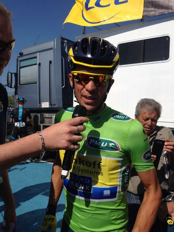Alberto Contador before start stage 4 Dauphine