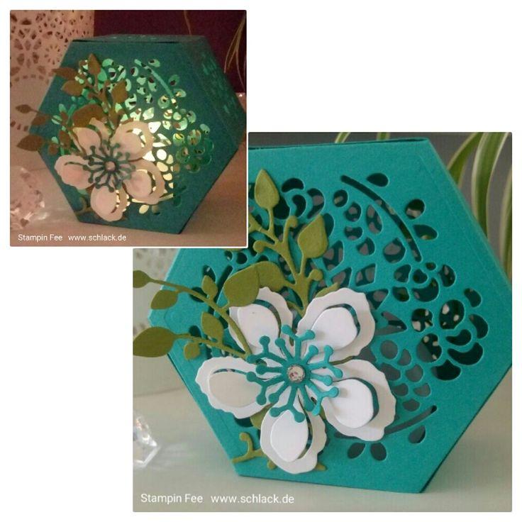 stampin windoxbox fensterschachtel box tealight Teelicht botanical Blooms electric candle holder