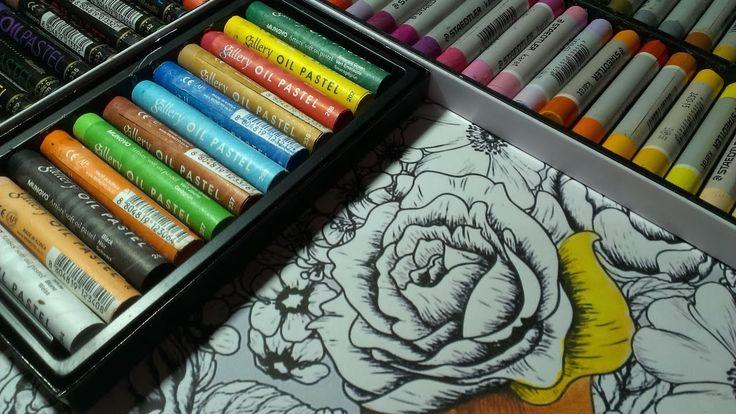 Nebojte se olejových pastelů. Jsou zábavné a kreslí skvěle. I v omalovánkách. Za olejové pastely Mungyo děkuji eshopu Pebeo.cz http://pebeo.cz/eshop/kresba/p...