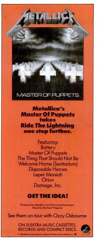 "Metallica, ""Master of Puppets"" [1986] 