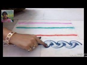 Border rangoli | magic finger rangoli | part - 1  by Nidhi Jain - YouTube