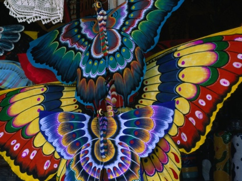 Hand-Crafted Butterfly Kites for Sale, Gianyar, Indonesia, unframed,  $29.99