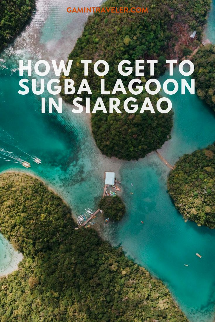 How to get to Sugba Lagoon in Siargao Island