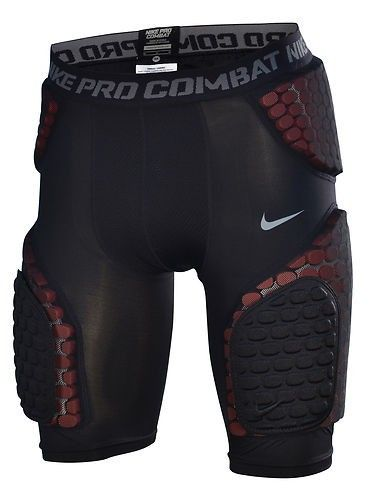 Nike Mens Small Pro Combat Hyperstrong Padded Football Shorts Black Red NEW! $69.99 free shipping