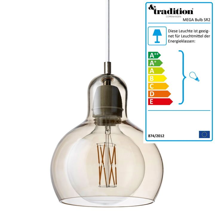 Tradition Mega Bulb Pendelleuchte Sr2 Glasschirm Gold Kabel Weiss Pendelleuchte Gluhbirne Leuchtmittel