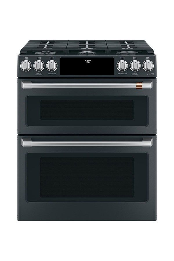Best Kitchen Range Café 30 Slide In Front Control Gas Double Oven With Convection Matte Black Brushed Stainless Hardware Sponsored