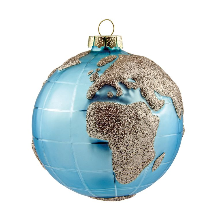 Globe Bauble With Champagne Glitter, 100mm - Dobbies ...
