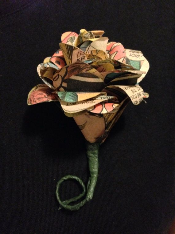 Vintage Comic Book Boutonniere Wedding Boutonniere made by glamMKE, $16.00
