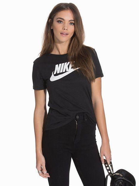 Nike Tee - Icon Futura - Nike - Black/White - Toppar - Kläder - Kvinna - Nelly.com