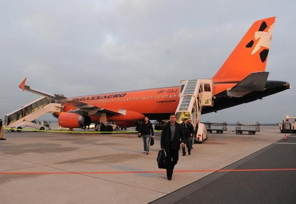 Shakhtar team plane