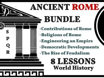 Ancient Rome Bundle Rise/Fall Christianity Roman Empire 8 Lessons World HistoryUPDATED: 8/11/15 Added Story of Mankind Episode 4 to the bundle. You will be getting 2 different versions and a paragraph sheet. This bundle will include the following activities: THE FIRST SEMESTER OF WORLD HISTORY THE WHOLE YEAR OF WORLD HISTORY 1.