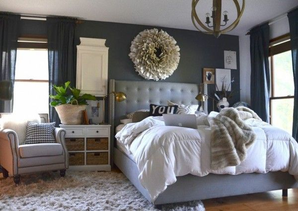 The nester 39 s master bedroom love it all sherwin williams for Master bedroom paint color ideas with dark furniture