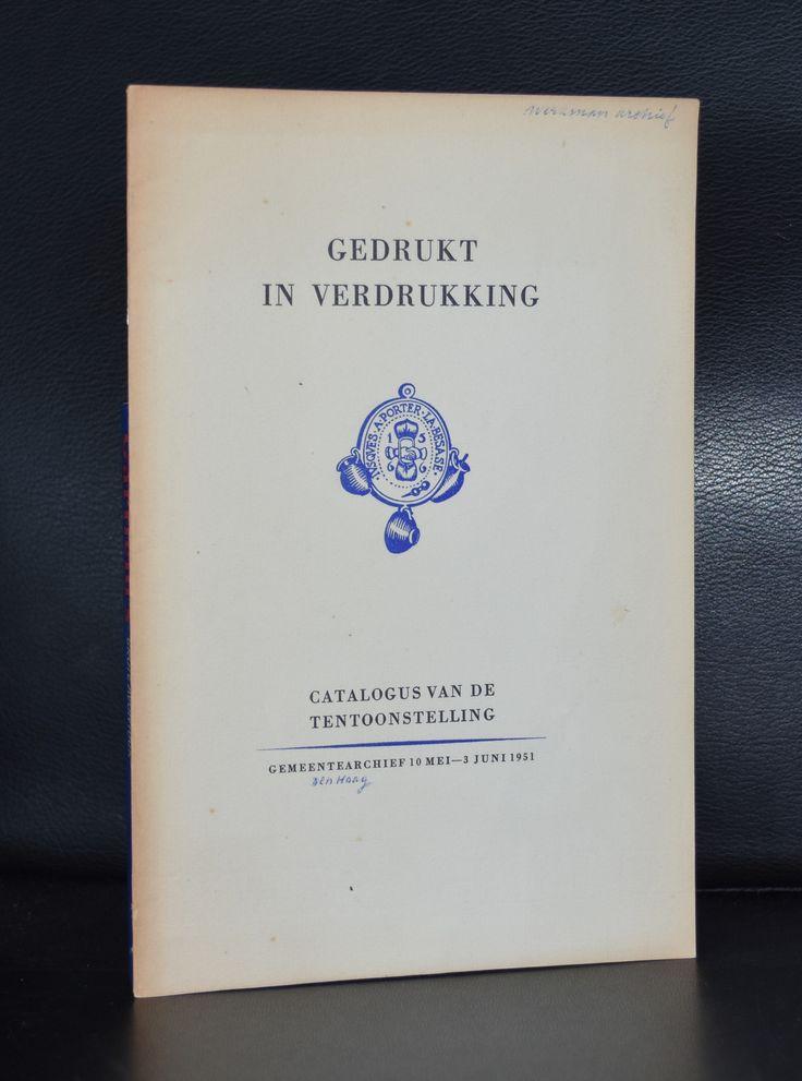 ao Werkman # GEDRUKT IN DE VERDRUKKING # Gemeentearchief, 1951, nm-
