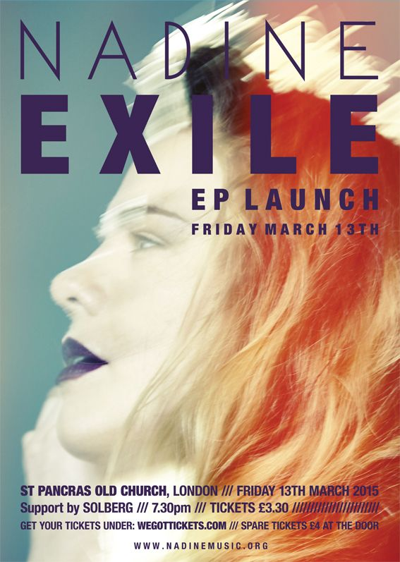 NADINE's Exile EP launch poster.