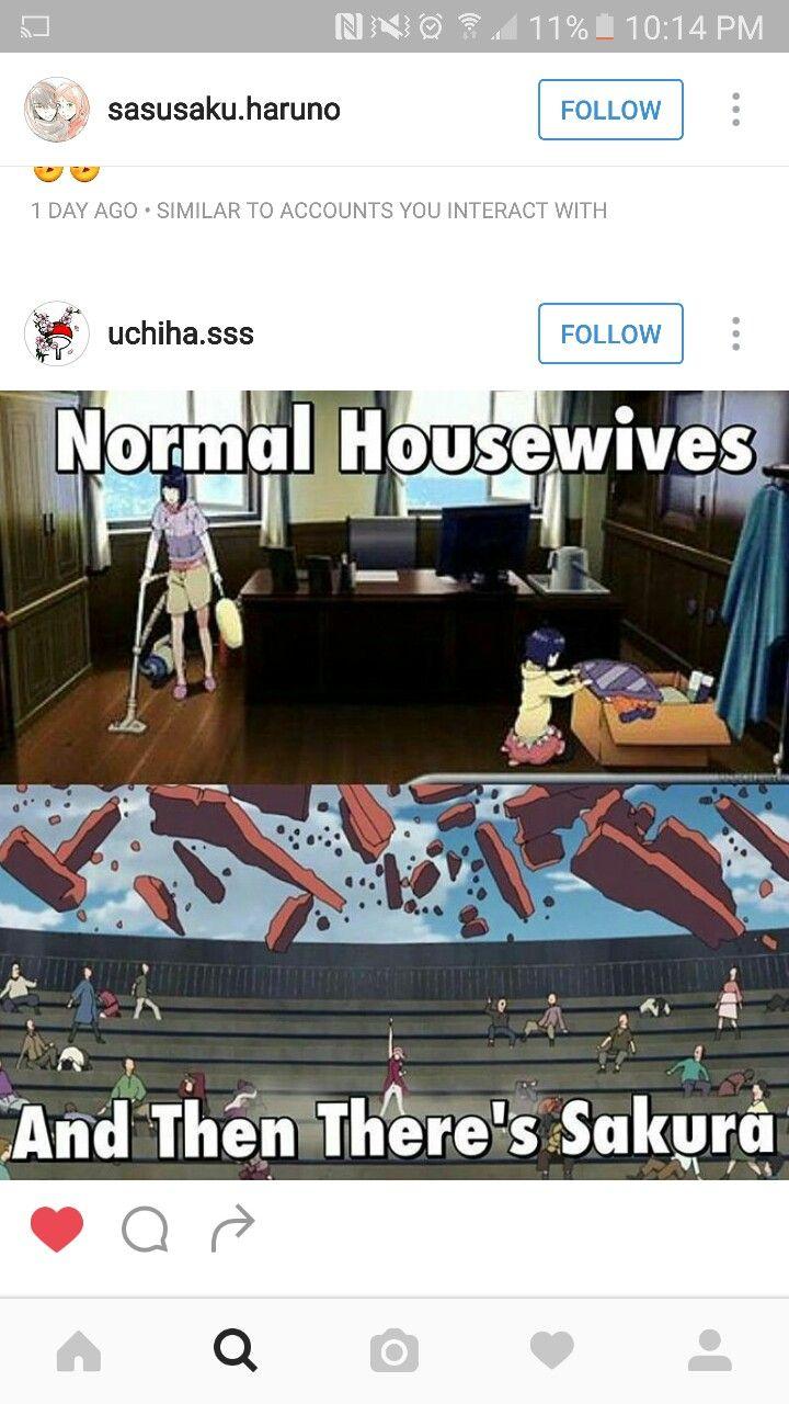 Normal Housewives and then there's Sakura....#Sakura #Uchiha #Borutothemovie