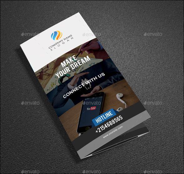 Modern Tri Fold Brochure Template Psd