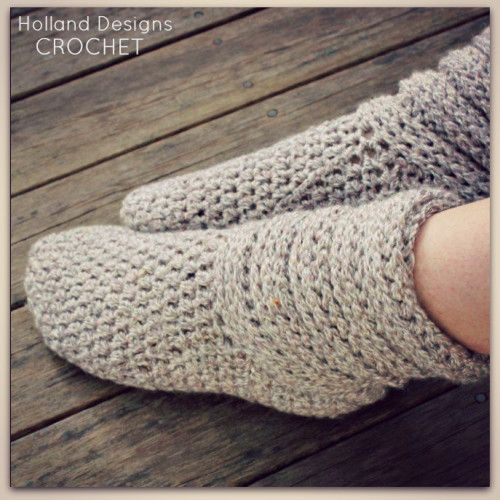 Crochet these fabulous and comfortable boots for yourself or as a gift for someone special! (This pattern coordinates with my Slouchy Baby Boots https://ww