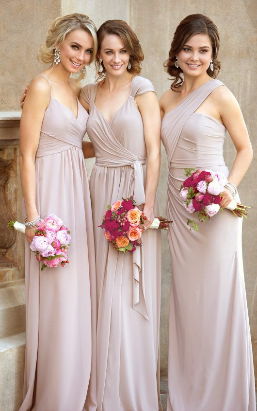 One-Shoulder Sexy Bridesmaid Gown by Sorella Vita in new Luxe Double Knit fabric.
