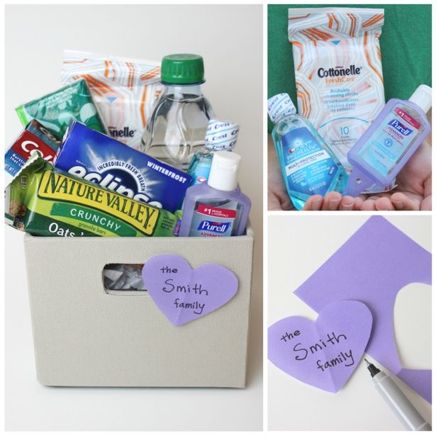 Parents of preemie babies will spend a lot of time in the NICU. Putting together a little basket of necessities can help those parents ease their stress. Created by @justjennrecipes.