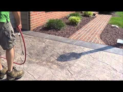 Stamped Concrete Sealer - YouTube
