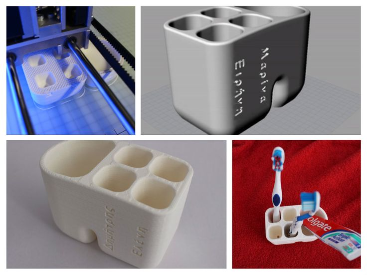 3d printed toothbrush holder customized, from 3d model to 3d making, thessaloniki