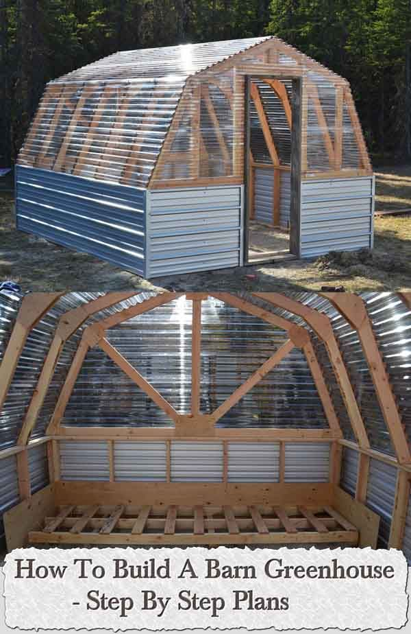 DIY - Step By Step Plans. Welcome to living Green & Frugally. We aim to provide all your natural and frugal needs with lots of great tips and advice, How To Build A Barn Greenhouse – Step By Step Plans
