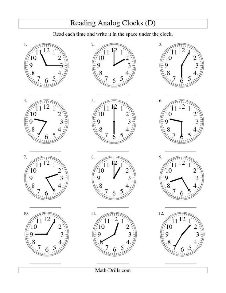 11 best time images on pinterest clock worksheets the. Black Bedroom Furniture Sets. Home Design Ideas