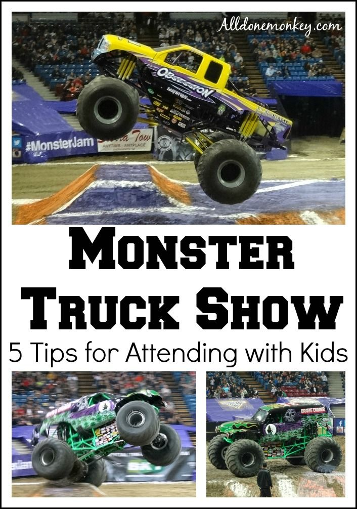 5 tips for attending a monster truck show with kids, based on our experience at the Monster Jam at the Sleep Train Arena in Sacramento.