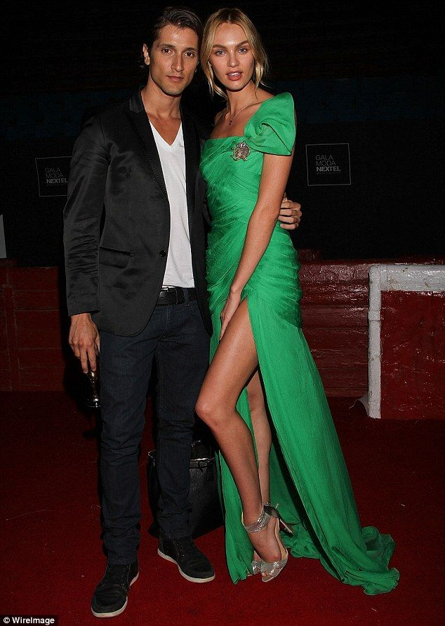 Already committed: Before they got engaged, Candice said that she feels 'married already' after 10 years of dating. The couple are seen here in 2011