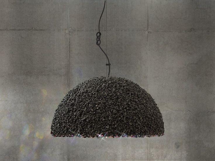 Luminária pendente com cristais Swarovski® THE DUCHESS MEDIUM GRAY by Mammalampa design Ieva Kalêja