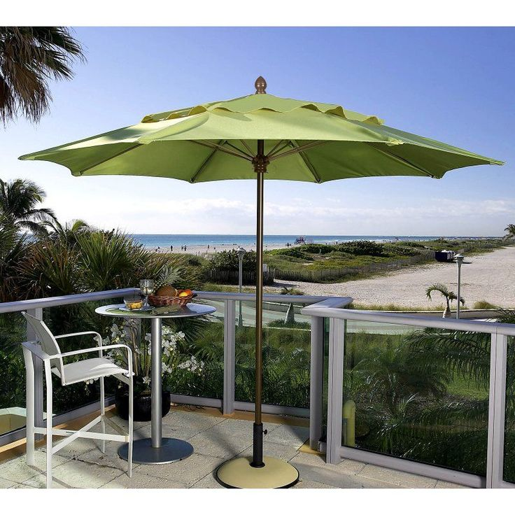 Patio Umbrella: FiberBuilt Premium 11 Ft. Wind Resistant Aluminum Market  Umbrella   11MPPW 4672