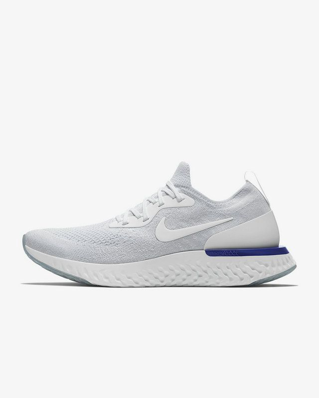 3ba828f65f4 Cheapest and Newest Nike Epic React Flyknit Mens Running Shoe White blanc  Racer Blue White blanc AQ0067-100 Youth Big Boys Shoes