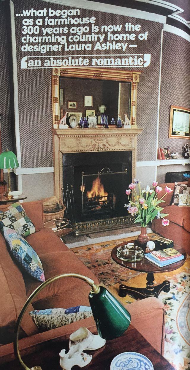 Take A Peek Inside Laura Ashleys 1976 Print Crazy Home