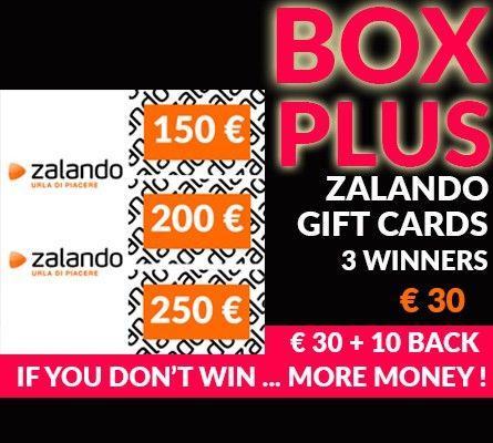 zalando gift cards. Win or 100%Cashback!