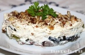 Салат с баклажанами Сердце осени, salaty myasnye salaty
