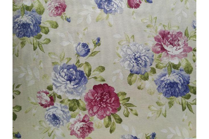 Loneta estampada de flores rosas y azules, empleada para diversas labores como cortinas, estores, tapizado de sofás, fundas para cojines..., tela con cuerpo, gruesa y resistente. Fácil lavado y planchado.#loneta #estampado #flores #rosa #azul #labores #tapizado #estores #sofás #cojines #confección #manteles #disfraces #medieval #carnaval #resistente #tela #telas #tejido #tejidos #textil #telasseñora #telasniños #comprar #online #comprartelas #compraronline