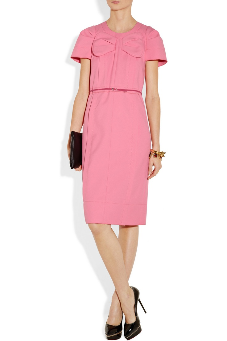 Marc Jacobs|Bow-embellished twill dress|$995
