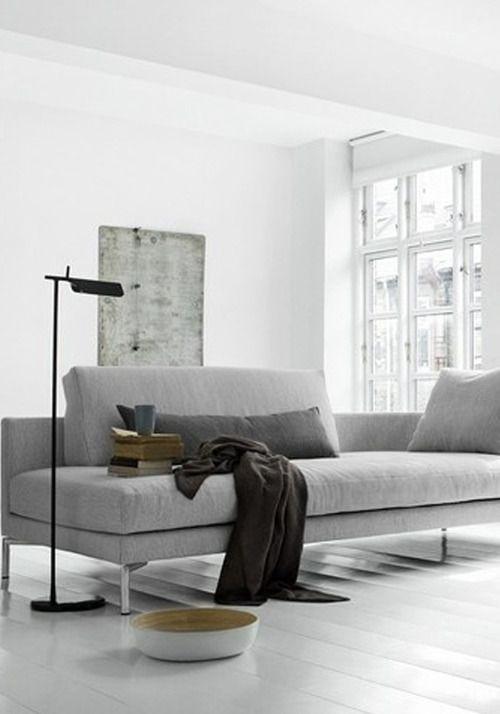 25 beste idee n over wit grijze slaapkamers op pinterest grijs slaapkamerdecor grijze - Grijze muur deco ...