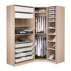IKEA - PAX, Wardrobe, 196/146x60x201 cm, , 10 year guarantee. Read about the terms in the guarantee brochure.You can easily adapt this ready-made PAX/KOMPLEMENT combination to suit your needs and taste using the PAX planning tool.If you want to organise inside you can complement with interior organisers from the KOMPLEMENT series.Adjustable feet make it possible to compensate any irregularities in the floor.