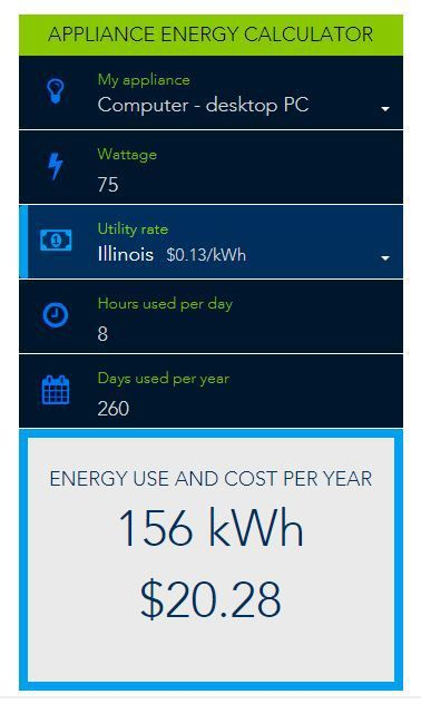 Calculate your energy consumption with this handy calculator. What kind of energy vampires can you curb this month?