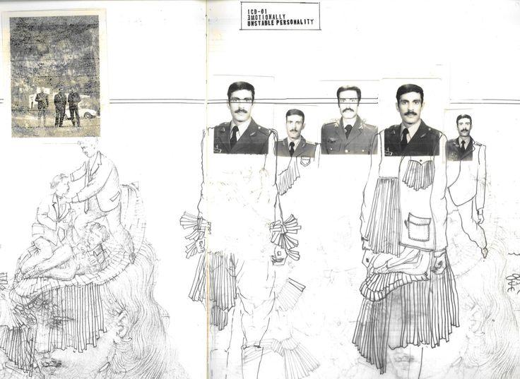 Sara Kiani's sketchbook, Central Saint Martins, from 1Granary site.