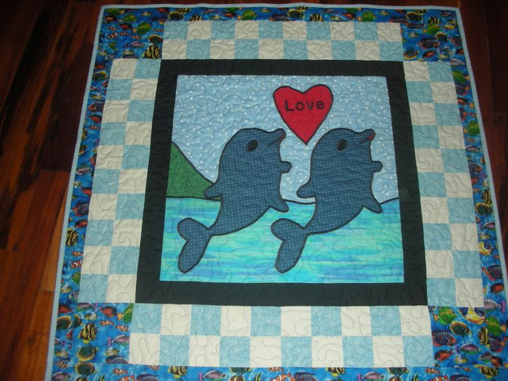 Baby Boy Blanket, baby boy quilt, baby boys blue blanket, baby ocean animals blanket, boys quilted blanket, nursery bedding, crib blanket by Pickspatches on Etsy